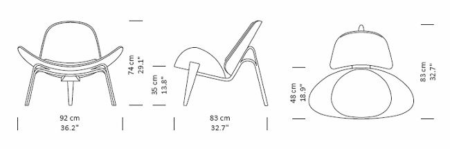 Maharam Shell Chair Dimensions