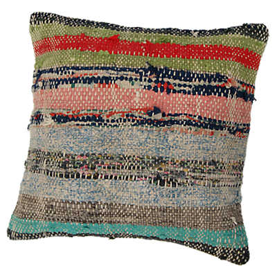Picture of Onur Decorative Striped Over Dyed Raggy Pillow