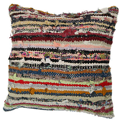 Picture of Oran Decorative Striped Over Dyed Raggy Pillow