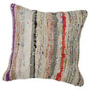 Picture of Ozgur Decorative Striped Over Dyed Raggy Pillow