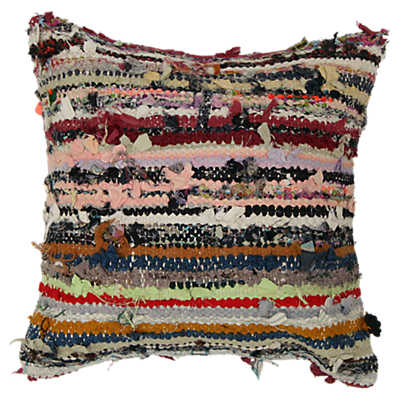 Picture of Sanem Decorative Striped Over Dyed Raggy Pillow