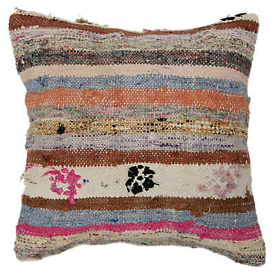 Picture of Nura Decorative Striped Over Dyed Raggy Pillow