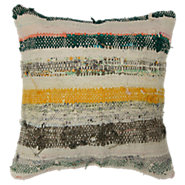 Picture of Nuray Decorative Striped Over Dyed Raggy Pillow