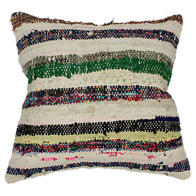 Picture of Tolga Decorative Striped Over Dyed Raggy Pillow