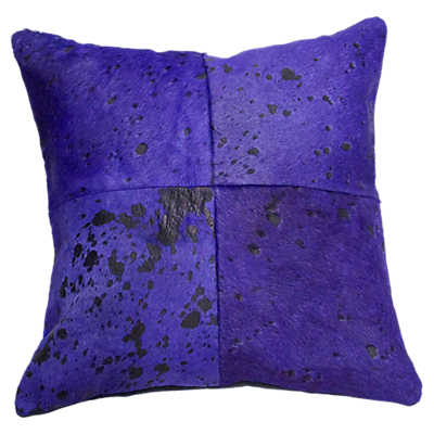 Picture of Acid Washed Cowhide Decorative Pillow