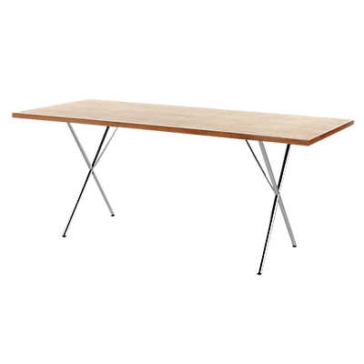"Picture of Nelson X-Leg Table, 30"" x 60"" Veneer Top"