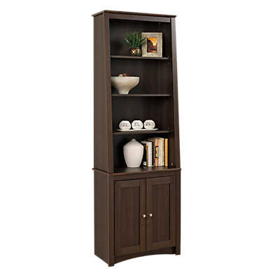 Picture of Slant-Back Bookcase with Shaker Doors