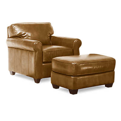 Picture of Fairgate Leather Lounge Chair and Ottoman