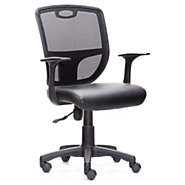 Picture of Techni Mobili Black Home-Office Chair with Arms