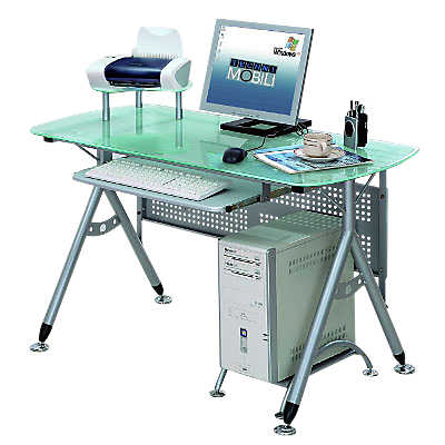 Picture of Glass and Metal Computer Desk