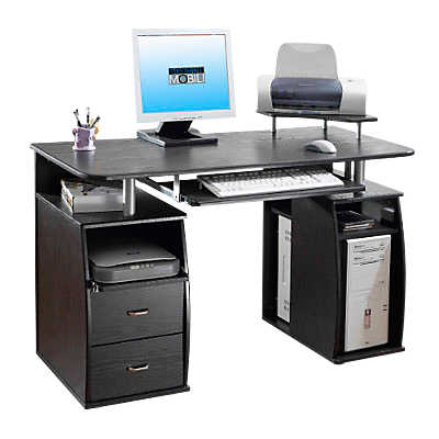 Picture of Dual Pedestal Computer Desk with Keyboard Tray