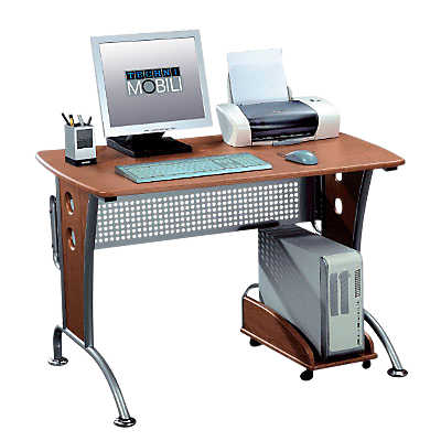 Picture of Contemporary Computer Desk with Metal Legs