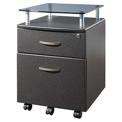 Picture of Techni Mobili 1-Drawer Rolling Glass Top File Cabinet