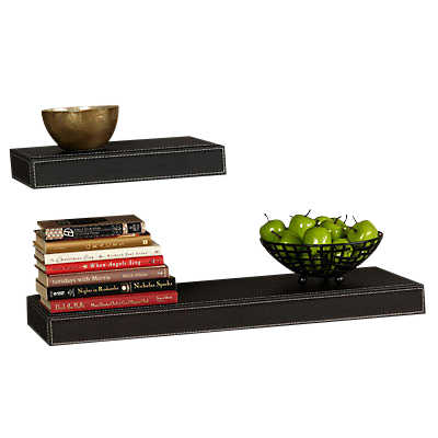 "Picture of Serene Leather Shelf, 12""-36"""