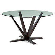 Picture of Aura Round Glass Top Dining Table