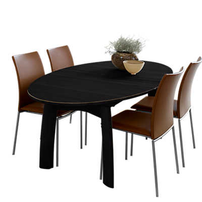 Picture of Skovby Ellipse Extending Dining Table SM 71