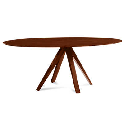 Picture of Nova Ellipse Maple Dining Table