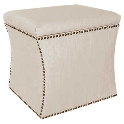 Picture of Nail Button Storage Ottoman