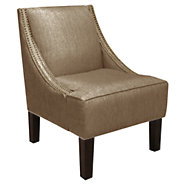 Picture of Nail Button Swoop Arm Chair
