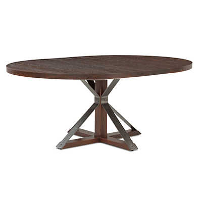 Picture of Cambridge Round Extension Oak Dining Table