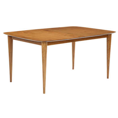 Picture of Cona Rectangular Maple Dining Table with Strata Top Treatment