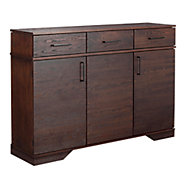 Picture of 3 Drawer with Doors Oak Credenza