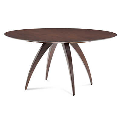 Picture of Ella Round Maple Dining Table with Strata Top Treatment