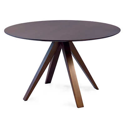 Picture of Nova Round Maple Dining Table with Strata Top Treatment