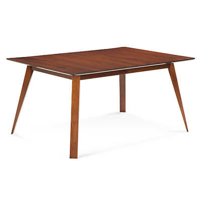 Picture of Spectra Rectangular Maple Dining Table with Strata Top Treatment