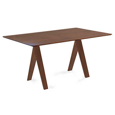 Picture of Soma Rectangular Maple Dining Table with Strata Top Treatment