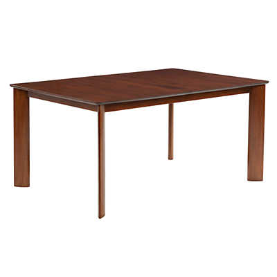 Picture of Ari Rectangular Maple Dining Table with Strata Top Treatment