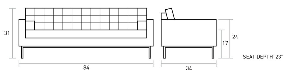 Spencer Sofa Dimensions