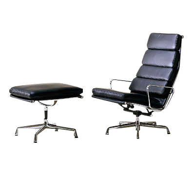 Picture of Herman Miller Eames Soft Pad Lounge Chair and Ottoman