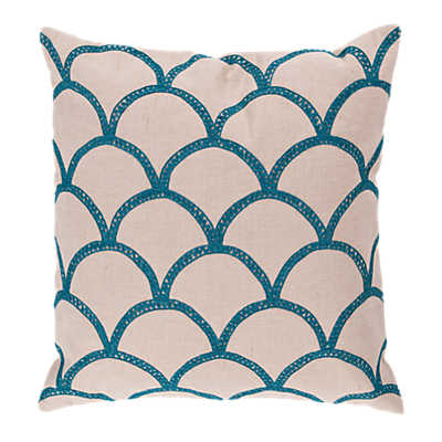 Picture of Scalloped Pillow, Blue