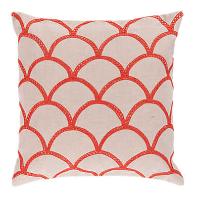 Picture of Scalloped Pillow, Coral