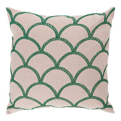 Picture of Scalloped Pillow, Green