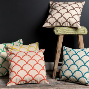Surya Scalloped Pillow