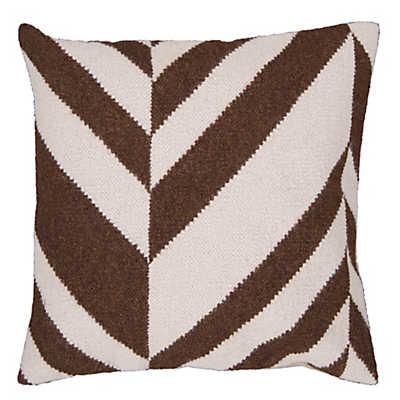 Picture of Fallon Stripe Pillow, Chocolate