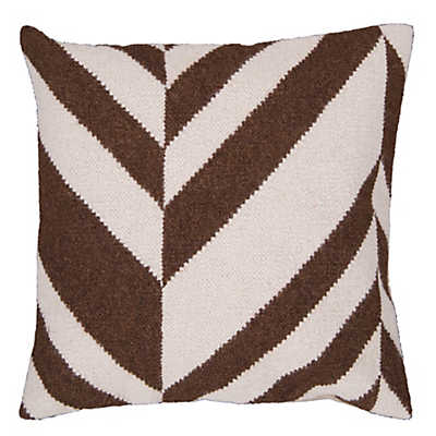 Picture of Fallon Stripe Pillow, Chocolate