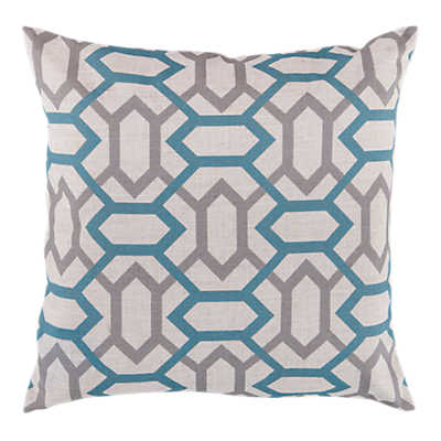 Picture of Geometry Pillow, Slate and Teal