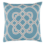 Picture of Kaleidoscope Pillow, Light Blue