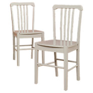 Picture of Cottage Slat Back Chairs, Set of 2