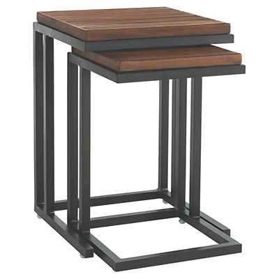 Picture of Ocean Club Pacifica Nesting Tables with Weatherstone Tops - Set of 2
