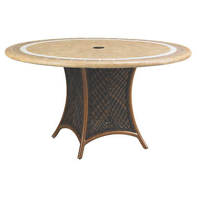 Picture of Island Estate Lanai 54 Inch Dining Table with Weatherstone Top