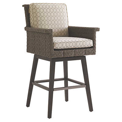 Picture of Blue Olive Swivel Bar Stool
