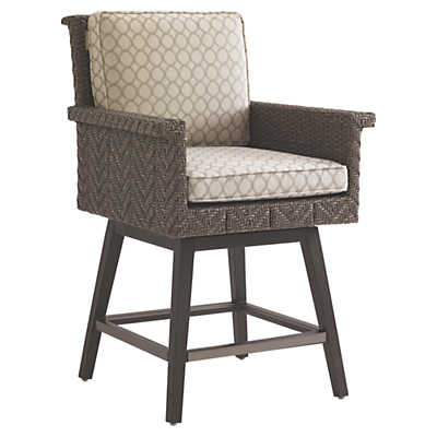 Picture of Blue Olive Swivel Counter Stool