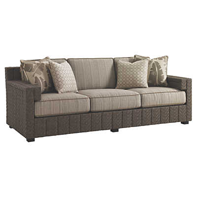 Picture of Blue Olive Sofa with Boxed Edge Cushions
