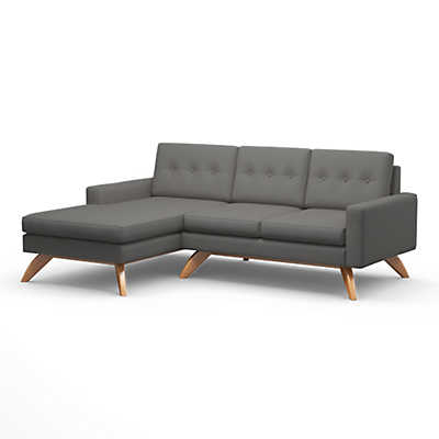 "Picture of Luna 90"" Sofa with Chaise"