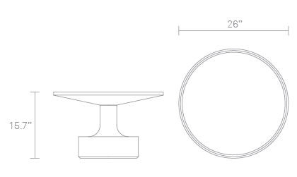 Pi Coffee Table Dimensions