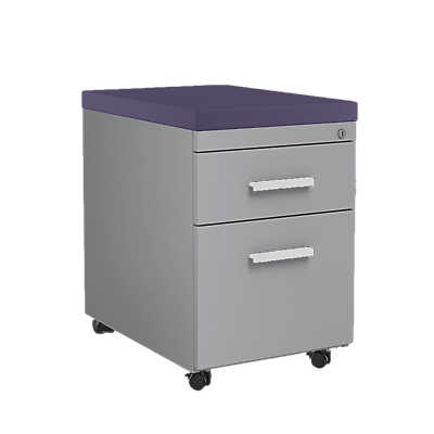 Picture of Steelcase Mobile File Cabinet with Cushion Top